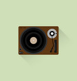 vinyl player with music plate vector image