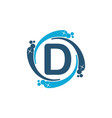 water clean service abbreviation letter d vector image vector image