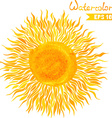 Watercolor sun vector image