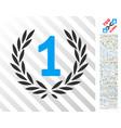 win flat icon with bonus vector image vector image