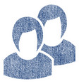 women fabric textured icon vector image vector image