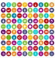 100 startup icons set color vector image vector image