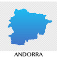 andorra map in europe continent design vector image