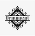 art deco ornamental logo vector image