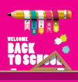 back to school design with pencil infographic vector image vector image