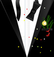 background Christmas man vector image vector image
