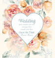 beautiful heart shape wedding card with watercolor vector image vector image
