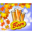 beer against the backdrop vector image vector image