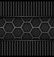 black metal texture background honeycomb pattern vector image
