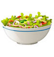 Bowl of green salad vector image vector image