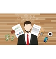 business manager businessman with graph data vector image