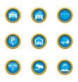 car deal icons set flat style vector image vector image