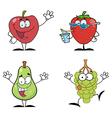 Cartoon fruit vector image vector image
