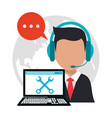 character call center professional work vector image