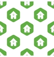 Christian house pattern vector image vector image
