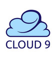 cloud 9 vector image vector image