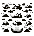 Collection of different cloud icons vector image