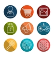 collection social media items graphic vector image vector image