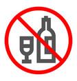 concept of forbidden alcohol vector image vector image