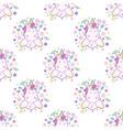 cupcake unicorn kawaii magic food seamless vector image vector image