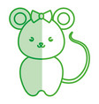 cute and tender female mouse kawaii style vector image vector image