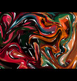 dark red and green hand drawn artwork on water vector image