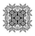 decorative hand drawn mandala ethnic decorative vector image vector image