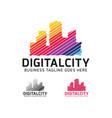 digital city logo designs vector image vector image