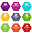 eco product icons set 9 vector image