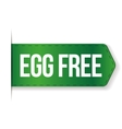 Egg Free sign vector image
