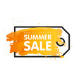 end of season summer sale sign price tag label vector image