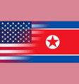 flags north korea and usa gradient superimposition vector image vector image