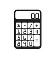 flat calculator sign black vector image vector image