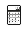 Flat calculator sign black