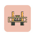 flat color sacramento bridge icon vector image vector image