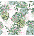 floral pattern delicate flower wallpaper vector image vector image