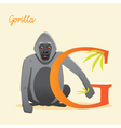 G for gorilla vector image