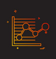 graph icon design vector image vector image