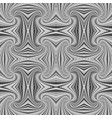 grey abstract hypnotic seamless striped vortex vector image vector image