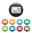house intercom icons set color vector image vector image