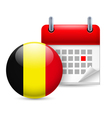 Icon of National Day in Belgium vector image vector image