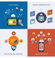 Icons for social network vector image
