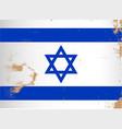 israel flag grunge vector image vector image