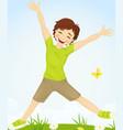 Jumping boy vector image