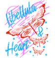 libellula heart vector image vector image