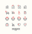 life insurance icons vector image vector image