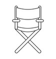 line confortable seat object element vector image