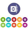 lock interroom icons set color vector image vector image