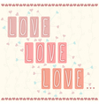 Love love love vector image