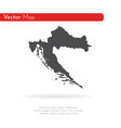 map croatia isolated black vector image vector image